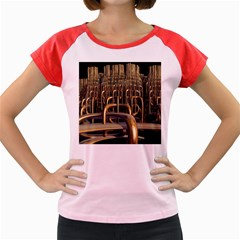 Fractal Image Of Copper Pipes Women s Cap Sleeve T Shirt