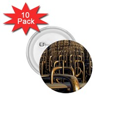 Fractal Image Of Copper Pipes 1 75  Buttons (10 Pack)