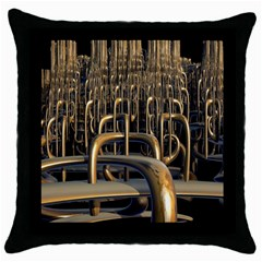 Fractal Image Of Copper Pipes Throw Pillow Case (black)