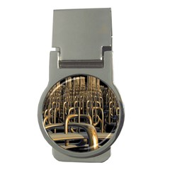 Fractal Image Of Copper Pipes Money Clips (Round)