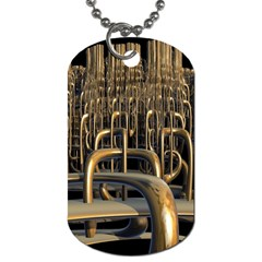 Fractal Image Of Copper Pipes Dog Tag (two Sides)