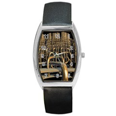 Fractal Image Of Copper Pipes Barrel Style Metal Watch