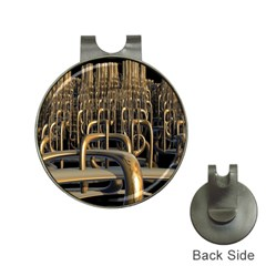 Fractal Image Of Copper Pipes Hat Clips With Golf Markers