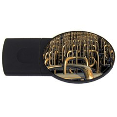 Fractal Image Of Copper Pipes Usb Flash Drive Oval (4 Gb)
