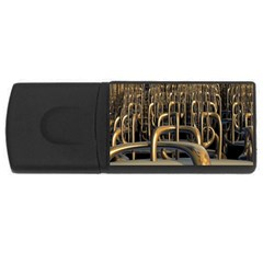 Fractal Image Of Copper Pipes Usb Flash Drive Rectangular (4 Gb)