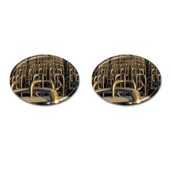 Fractal Image Of Copper Pipes Cufflinks (oval)