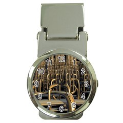 Fractal Image Of Copper Pipes Money Clip Watches