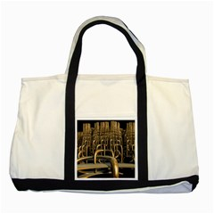 Fractal Image Of Copper Pipes Two Tone Tote Bag