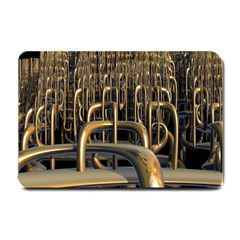 Fractal Image Of Copper Pipes Small Doormat