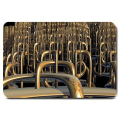 Fractal Image Of Copper Pipes Large Doormat