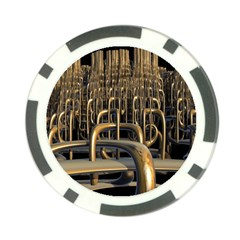 Fractal Image Of Copper Pipes Poker Chip Card Guard