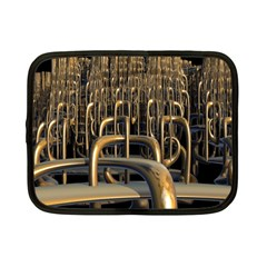 Fractal Image Of Copper Pipes Netbook Case (small)
