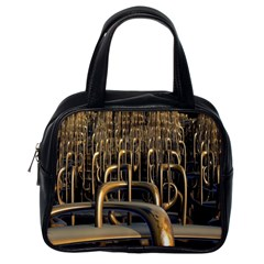 Fractal Image Of Copper Pipes Classic Handbags (One Side)