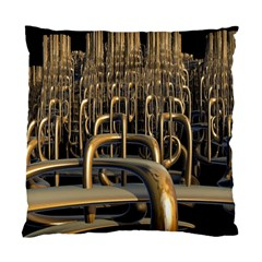 Fractal Image Of Copper Pipes Standard Cushion Case (two Sides)