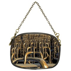 Fractal Image Of Copper Pipes Chain Purses (two Sides)