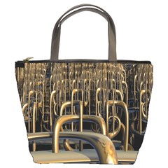Fractal Image Of Copper Pipes Bucket Bags