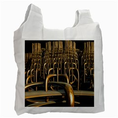 Fractal Image Of Copper Pipes Recycle Bag (one Side)