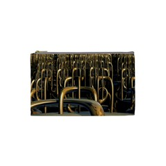 Fractal Image Of Copper Pipes Cosmetic Bag (Small)