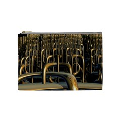 Fractal Image Of Copper Pipes Cosmetic Bag (medium)