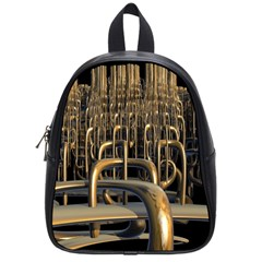 Fractal Image Of Copper Pipes School Bags (small)