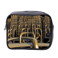 Fractal Image Of Copper Pipes Mini Toiletries Bag 2 Side
