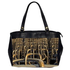 Fractal Image Of Copper Pipes Office Handbags (2 Sides)