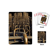 Fractal Image Of Copper Pipes Playing Cards (mini)