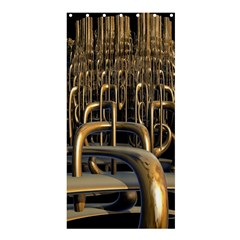 Fractal Image Of Copper Pipes Shower Curtain 36  X 72  (stall)