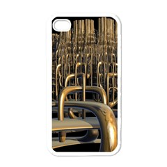Fractal Image Of Copper Pipes Apple iPhone 4 Case (White)