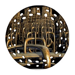 Fractal Image Of Copper Pipes Ornament (Round Filigree)