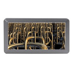 Fractal Image Of Copper Pipes Memory Card Reader (Mini)