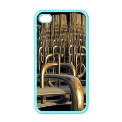 Fractal Image Of Copper Pipes Apple Iphone 4 Case (color)