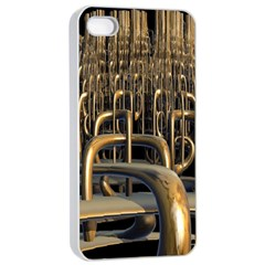 Fractal Image Of Copper Pipes Apple iPhone 4/4s Seamless Case (White)