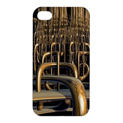 Fractal Image Of Copper Pipes Apple Iphone 4/4s Hardshell Case
