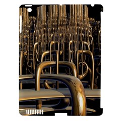 Fractal Image Of Copper Pipes Apple Ipad 3/4 Hardshell Case (compatible With Smart Cover)