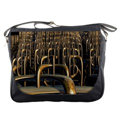 Fractal Image Of Copper Pipes Messenger Bags