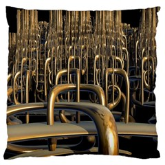 Fractal Image Of Copper Pipes Large Cushion Case (One Side)