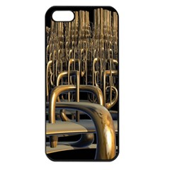 Fractal Image Of Copper Pipes Apple Iphone 5 Seamless Case (black)