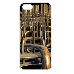 Fractal Image Of Copper Pipes Apple Iphone 5 Seamless Case (white)