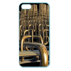 Fractal Image Of Copper Pipes Apple Seamless Iphone 5 Case (color)