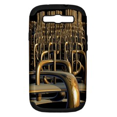 Fractal Image Of Copper Pipes Samsung Galaxy S Iii Hardshell Case (pc+silicone)