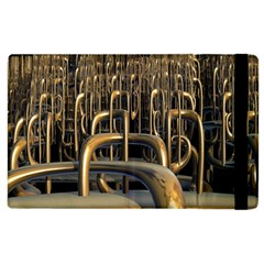 Fractal Image Of Copper Pipes Apple iPad 3/4 Flip Case