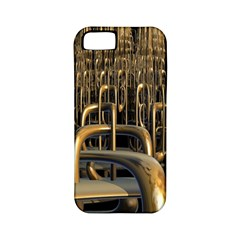 Fractal Image Of Copper Pipes Apple Iphone 5 Classic Hardshell Case (pc+silicone)