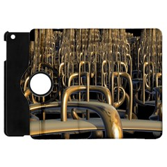 Fractal Image Of Copper Pipes Apple iPad Mini Flip 360 Case