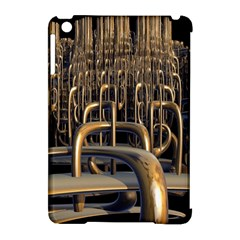 Fractal Image Of Copper Pipes Apple Ipad Mini Hardshell Case (compatible With Smart Cover)