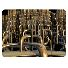 Fractal Image Of Copper Pipes Samsung Galaxy Tab 7  P1000 Flip Case