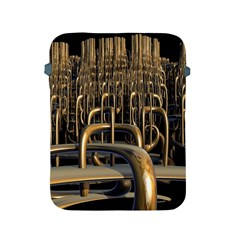 Fractal Image Of Copper Pipes Apple Ipad 2/3/4 Protective Soft Cases