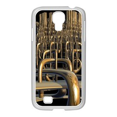 Fractal Image Of Copper Pipes Samsung GALAXY S4 I9500/ I9505 Case (White)