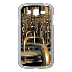 Fractal Image Of Copper Pipes Samsung Galaxy Grand Duos I9082 Case (white)
