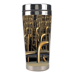 Fractal Image Of Copper Pipes Stainless Steel Travel Tumblers